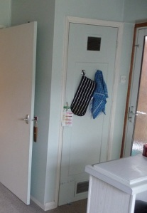Pantry door before makeover