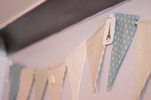Bunting for a child's room
