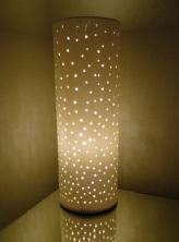 Pierced Ceramic Michael Kennedy Lamp