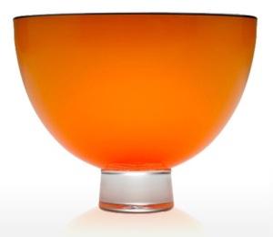 Orange Gillies and Jones Opaque Glass Bowl