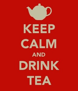 Keep clam and drink tea