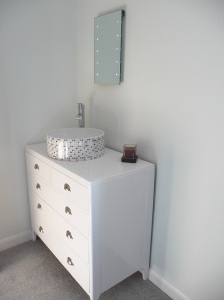 Sink on chest of drawers